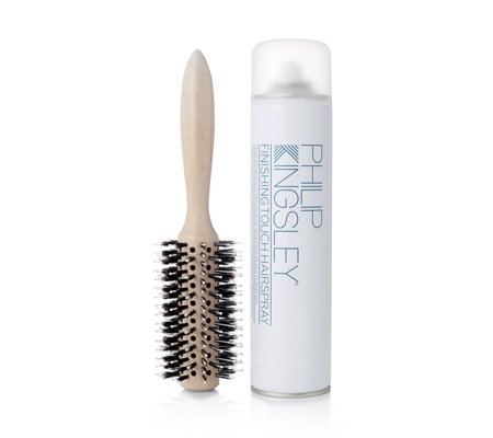 Philip Kingsley Radial Hair Brush & Finishing Touch Hairspray
