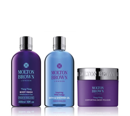 Molton Brown Ylang Ylang & Wild Indigo 3 Piece Body Collection