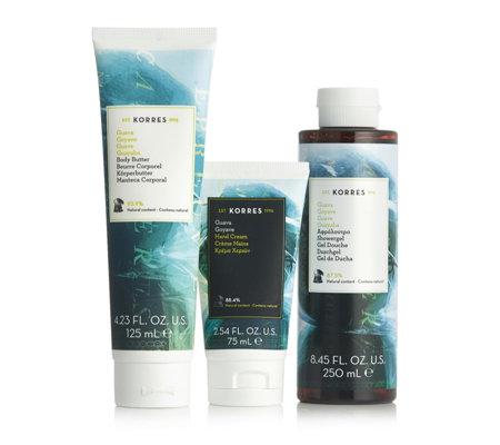 Korres 3 Piece Body Hydration Collection
