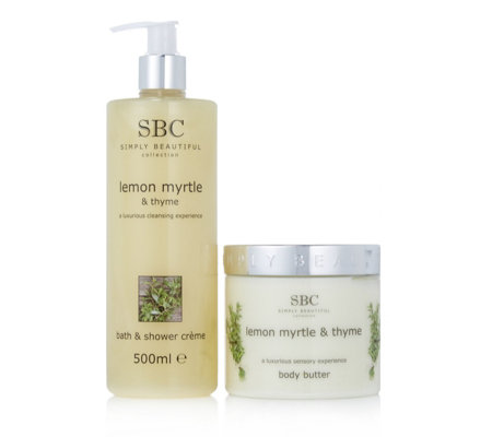 SBC 2 Piece Lemon Myrtle & Thyme Bath & Body Collection