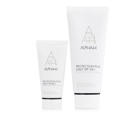 Alpha-H Protection Plus Daily SPF50 Moisturiser Home & Away Duo