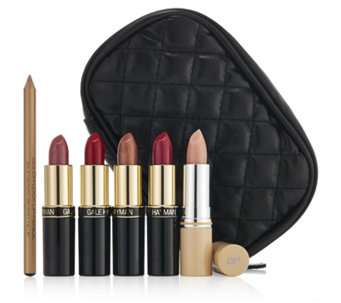 Gale Hayman 6 Piece L.A. Lipstick Collection with Case - 218631