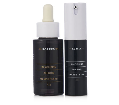 Korres 2 Piece Black Pine Firming Serum & Eye Cream