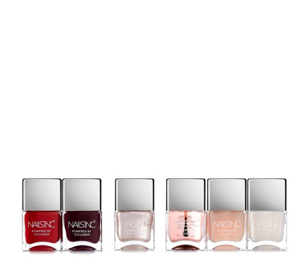 Nails Inc 6 Piece Collagen Infused Nailcare n Colour Collection
