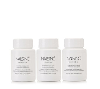 Nails Inc Trio of Coconut Fragranced Nail Polish Remover with Collagen - 218933