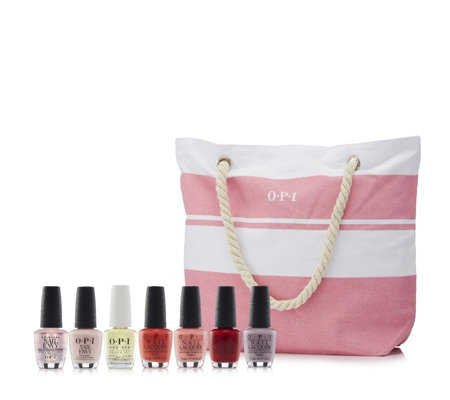 OPI 7 Piece Summer Nail Collection with Beach Bag