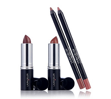 Laura Geller 4 Piece Italian Marble Lipstick & Perfect Pout Collection - 233835