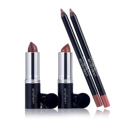 Laura Geller 4 Piece Italian Marble Lipstick & Perfect Pout Collection