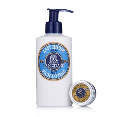 L'Occitane 2 Piece Shea Skin Body Lotion & Shea Butter