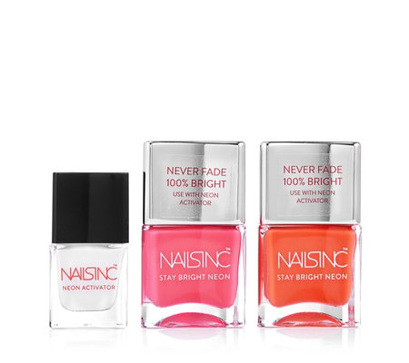 Nails Inc 3 Piece None Fade Neons Nailcare Collection