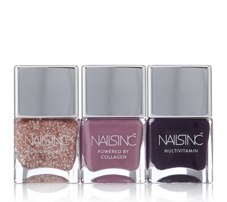 Nails Inc 3 Piece Winter Rose Nailcare Collection