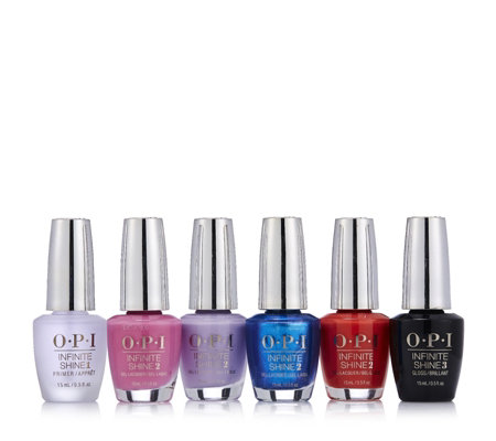 OPI 6 Piece Fiji Infinite Shine Collection with Bag