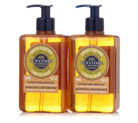L'Occitane 2 Piece Liquid Soap Set