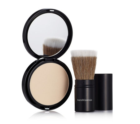 bareMinerals BARESKIN Perfecting Veil & Feather Light Retractable Brush