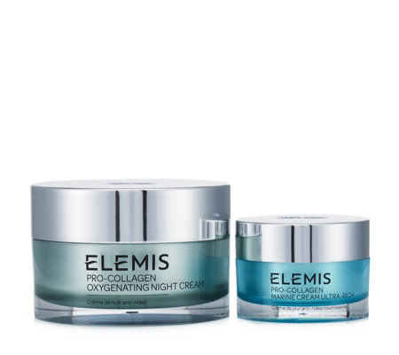Elemis Pro-Collagen Oxygenating Night Cream 100ml & Marine Cream 30ml