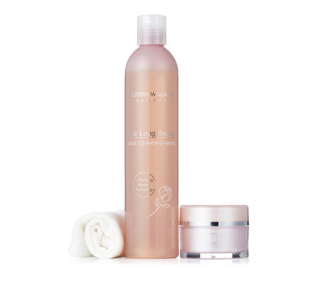 Judith Williams 2 Piece Rose Cleansing Balm & Cleansing Water with Cloth