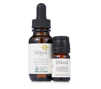 A'kin 2 Piece Certified Organic Rosehip Oil Collection - 232655