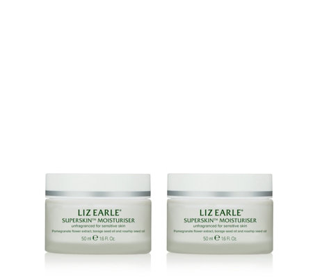 Liz Earle Superskin Moisturiser 50ml Duo