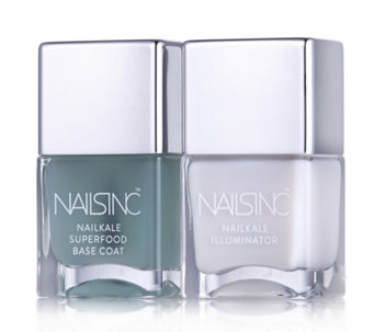 Nails Inc Nailkale Basecoat & Nailkale Illuminator - 207658