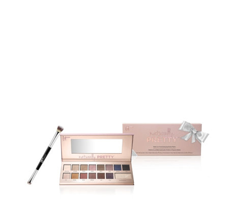 IT Cosmetics Naturally Pretty Palette & Heavenly Luxe Brush