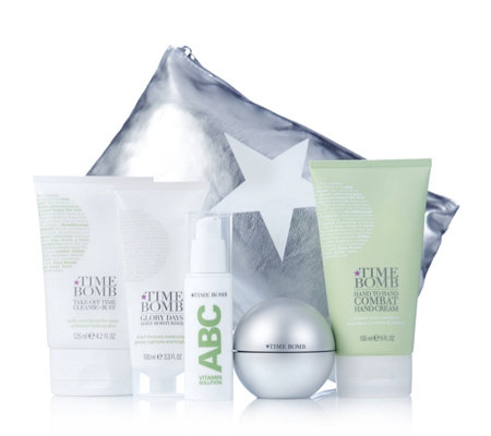 Lulu's Time Bomb 5 Piece Anti Ageing Radiant Skin Collection & Bag