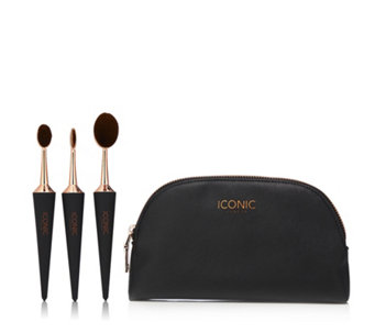 Iconic Contour and Conceal Set of 3 Brushes w/ Make Up Bag - 230359