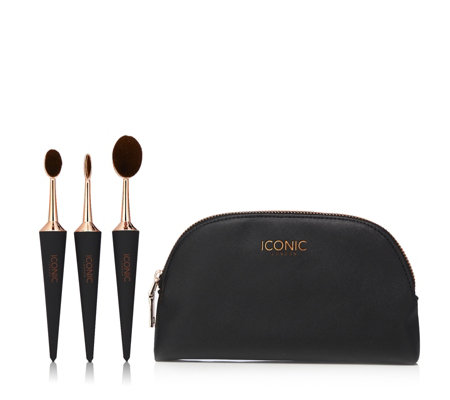 Iconic Contour and Conceal Set of 3 Brushes w/ Make Up Bag