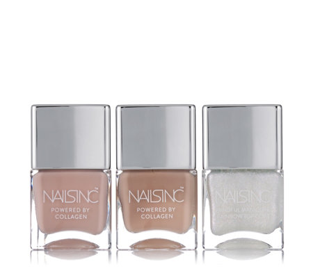 Nails Inc 3 Piece Mindful Manicure Anti-ageing Collagen Collection