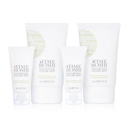 Lulu's Time Bomb 4 Piece Take Off Time Home & Away Cleanser Set