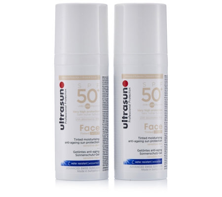 Ultrasun Sun Protection Tinted Face SPF50+ 50ml Duo