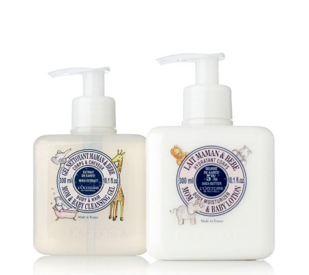 L Occitane Mom Amp Baby Wash Amp Lotion Collection Qvc Uk