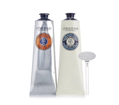 L'Occitane Intense Hand Balm & Foot Cream With Key