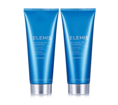 Elemis revitalise me shower gel duo page 1 qvc uk - Elemis shower gel ...