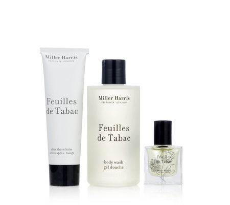 Miller Harris 3 Piece Feuilles De Tabac Men's Grooming Collection
