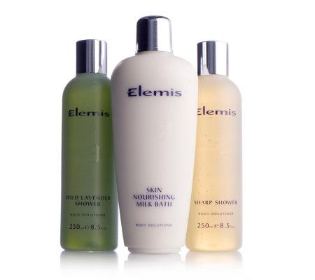 Elemis hydrating bath shower gel trio qvc uk - Elemis shower gel ...