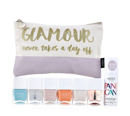 Nails Inc 7 Piece Glamour Never Takes a Day Off Colour Collection