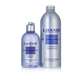 L'Occitane Lazy Lavender Evenings Foam Bath & Shower Gel Duo - 233570