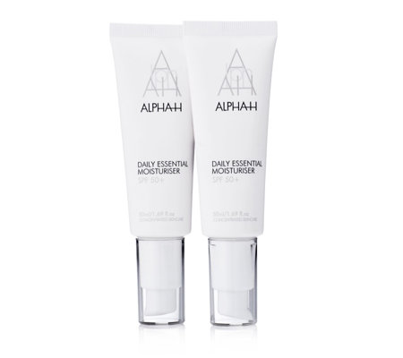 Alpha-H Daily Essential Moisturiser SPF50+ 50ml Duo