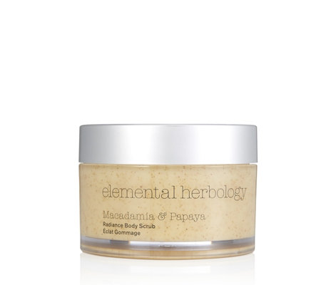 Elemental Herbology Macadamia & Papaya Radiance Body Scrub 200ml