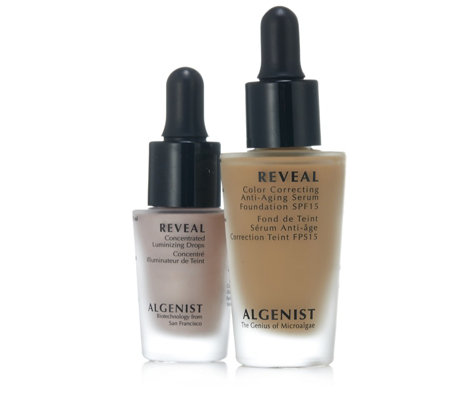 Algenist 2 Piece Get Glowing Cover & Highlight Set w/ Brush