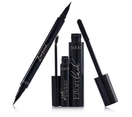 Doll 10 3 Piece Double-Ended Eyeliner & Mascara & Brow Gel