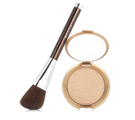 Becca 2 Piece Champagne Pop Highlighter & Brush