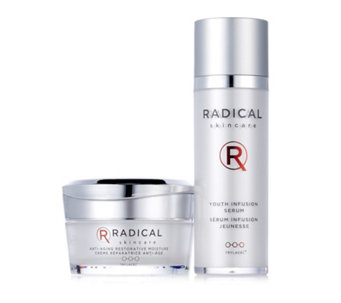 Radical Skincare Youth Infusion Serum & Anti Ageing Restorative Moisture Set - 212181