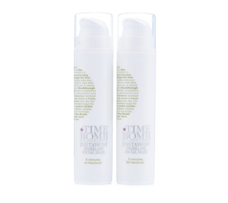 Lulu's Time Bomb Instawow Sparkling Facial Mask 50ml Duo