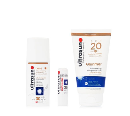 Ultrasun 3 Piece Glimmer & Tint Sun Protection Collection