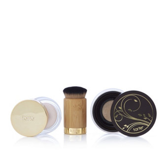 Tarte Smoothing Primer & Amazonian Clay Airbrush Powder Foundation & Brush - 230183