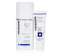 Ultrasun Sun Protection Glimmer SPF50 100ml & Face SPF50 25ml - 230687