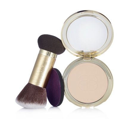 Tarte Confidence Creamy Powder Foundation with Double Ended Brush