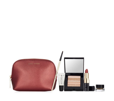 Bobbi Brown 5 Piece Party Ready Make-up Collection & Bag