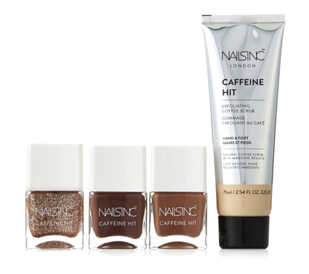 Nails Inc 4 Piece Caffeine Hit Collection